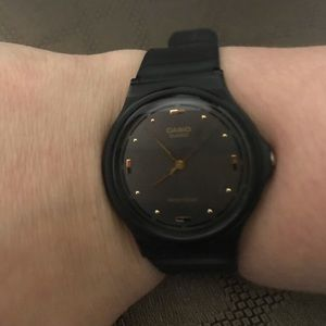 Casio black rubber watch
